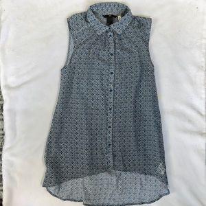 Beautiful H&M  printed sleeveless xs